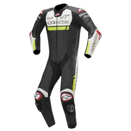 Lederkombi Missile Ignition Lt 1pc Tech-Air Schwarz Weiss Alpinestars