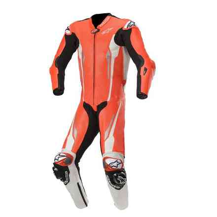 Lederkombi Racing Absolute 1 Pc Tech-Air Comp. Rot Weiss Schwarz Alpinestars