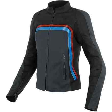 Lola 3 Lady jacket black ebony red blue Dainese