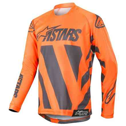 Maglia Alpinestars Cross Youth Racer Braap Antracite - Arancione Fluo Alpinestars