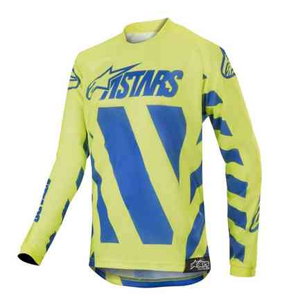 Maglia Alpinestars Cross Youth Racer Braap Blu - Giallo Fluo Alpinestars