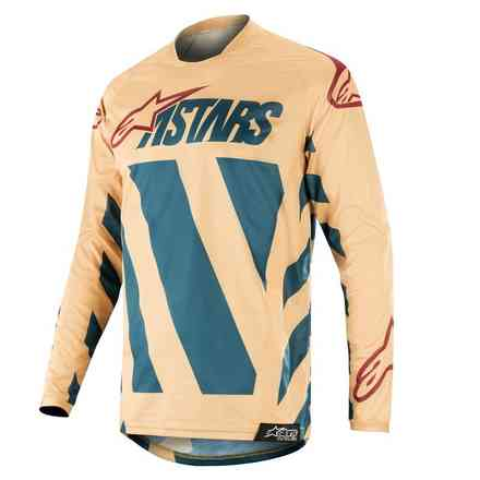 Maglia Cross Racer Braap Jersey petrolio tan marrone Alpinestars