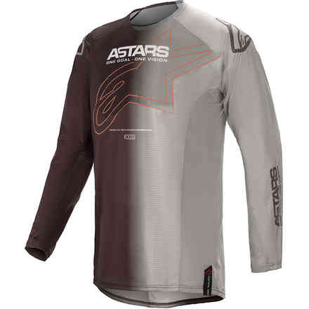Maglia Cross Techstar Phantom Antracite Arancione Alpinestars