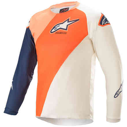 Maglia Cross Youth Racer Blaze Arancione Blu Scuro Alpinestars