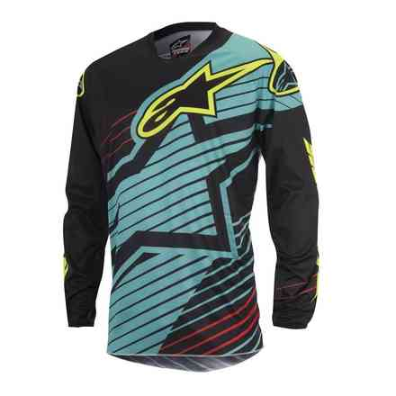 Maglia cross Youth Racer Braap 2017 blu nero Alpinestars