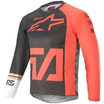 Maglia  Cross Youth Racer Compass Antracite Rosso Bianco Alpinestars
