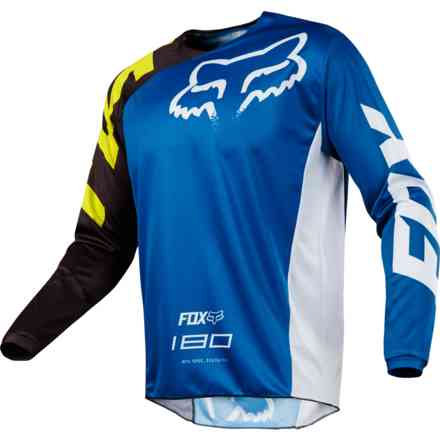 Maglia Fox Cross 180 Race Jersey Blu Fox