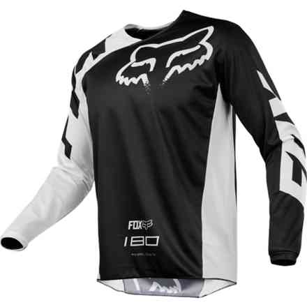 Maglia Fox Cross 180 Race Jersey Nero Fox