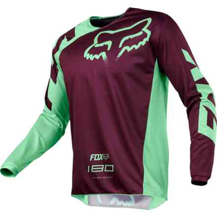 Maglia Fox Cross 180 Race Jersey Viola-Verde Fox
