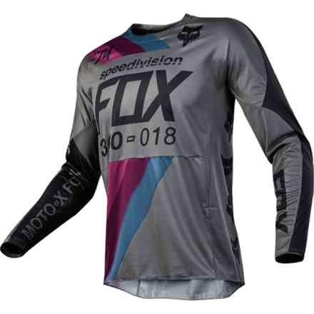 Maglia Fox Cross 360 Draftr Jersey Charcoal Fox