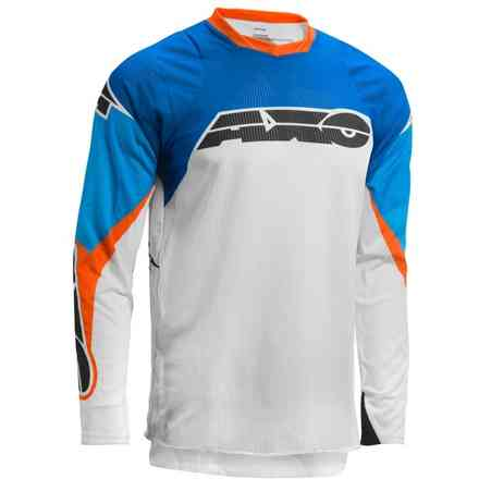 Maglie Prisma White/Blu/Orange Axo
