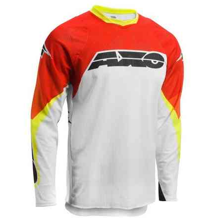 Maglie Prisma White/Red/Yellow Axo