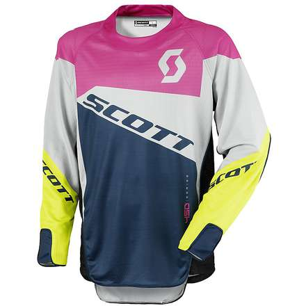 Maille de Cross 450 Podium rose-vert Scott