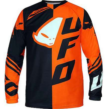 Maillot Cluster noir-orange Ufo