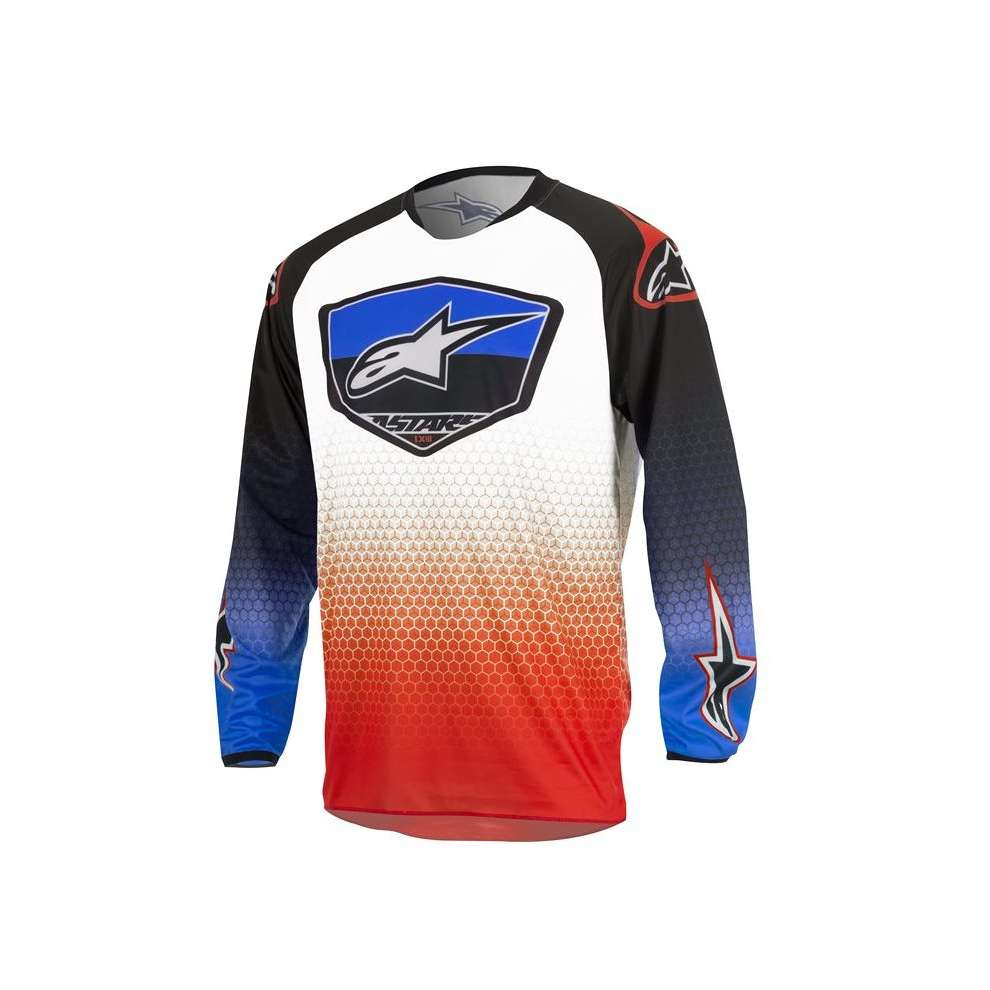 Maillot Enfants Youth Racer Supermatic 2017 rouge bleu blanc Alpinestars