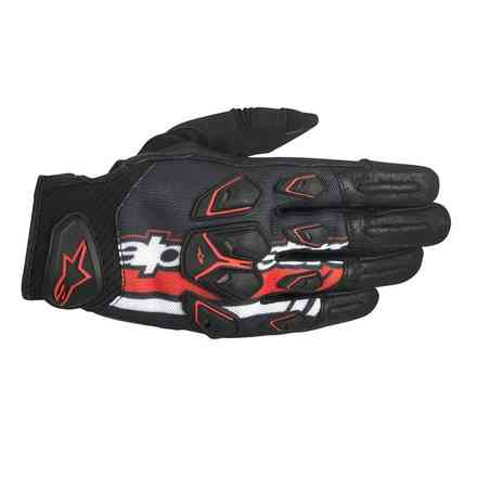 Masai black-red-white Gloves Alpinestars