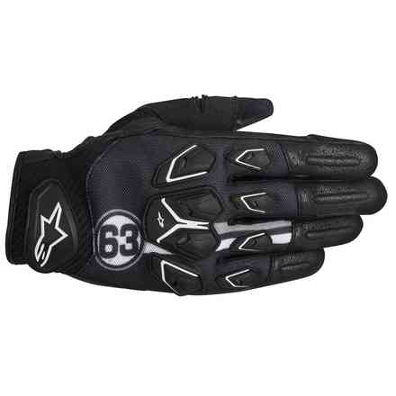 Masai black-white-grey Gloves Alpinestars