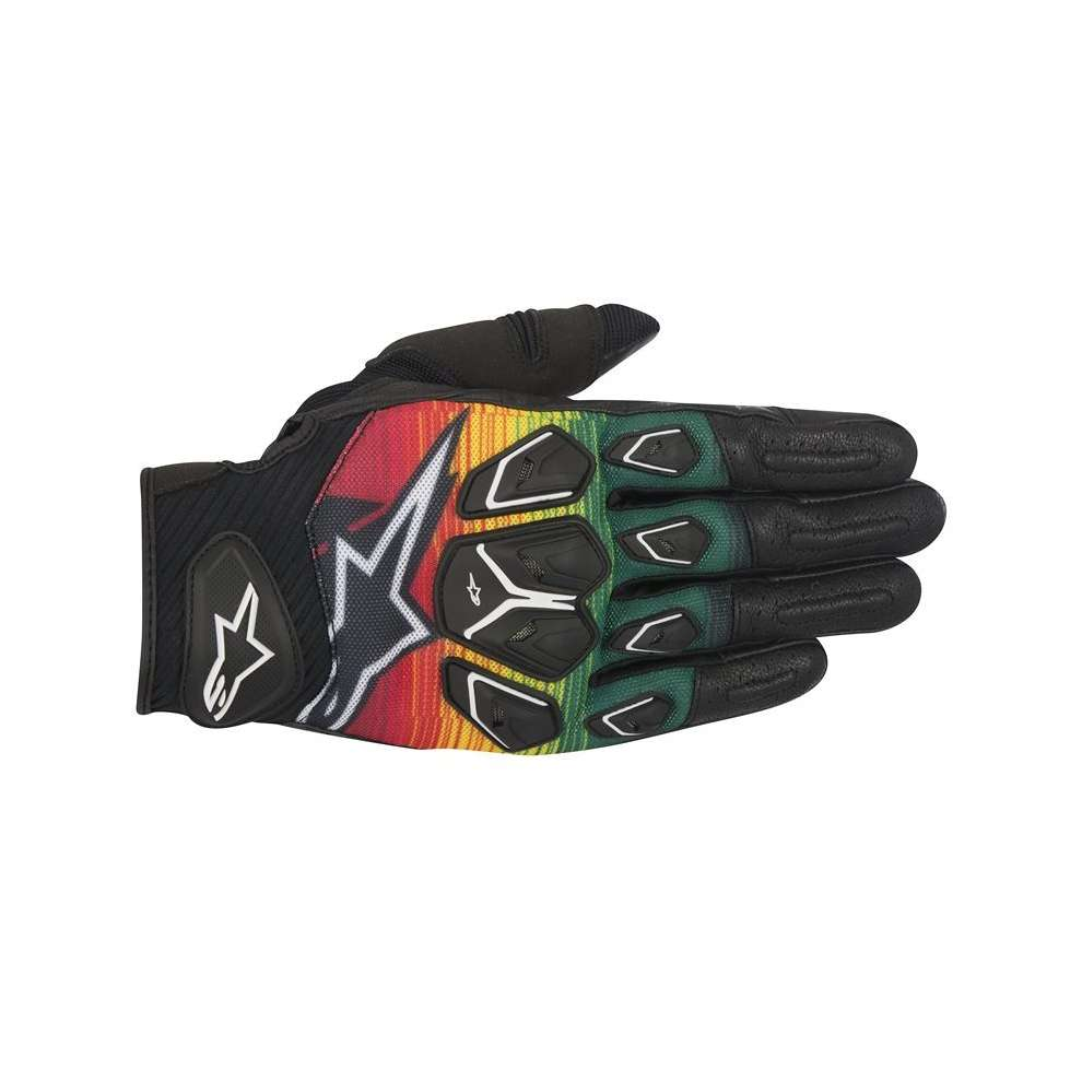 Masai Gloves black-red-yellow-green Alpinestars