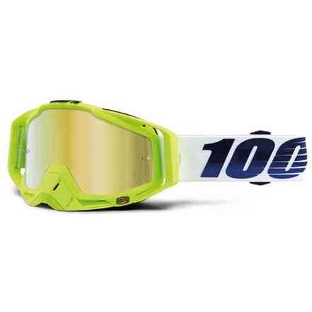 MASK 100% RACECRAFT GP21 - LENS WITH GOLD MIRROR 100%