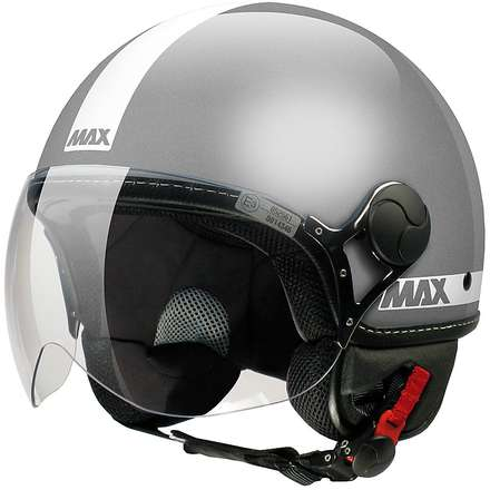 Max Power  Helmet Grey polished-White MAX - Helmets