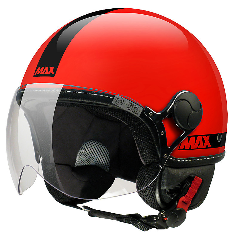 Max Power  Helmet  Red glossy-black MAX - Helmets