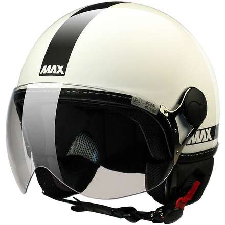 Max Power  Helmet  White glossy-black MAX - Helmets