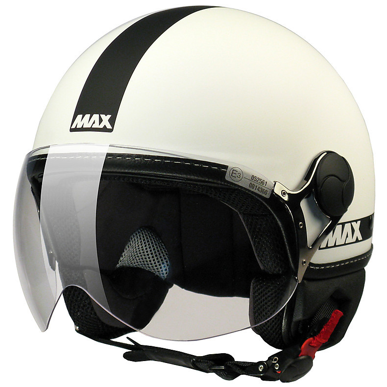 Max Power  Helmet  White matt-black MAX - Helmets