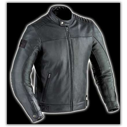 Mechanics Black   Leather Jacket Ixon