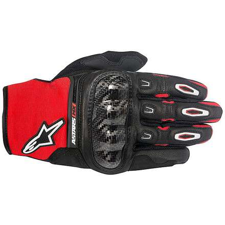 Megawatt Hard Knuckle Gloves  black-red-white Alpinestars