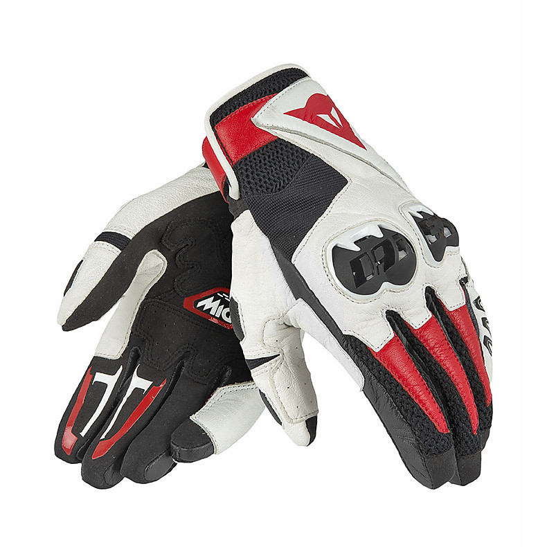 Mig C2 Black-White-Red- Gloves Dainese