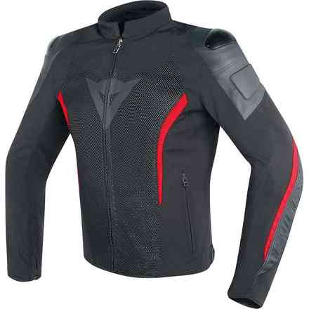 Mig Leather-Tex jacket black red Dainese