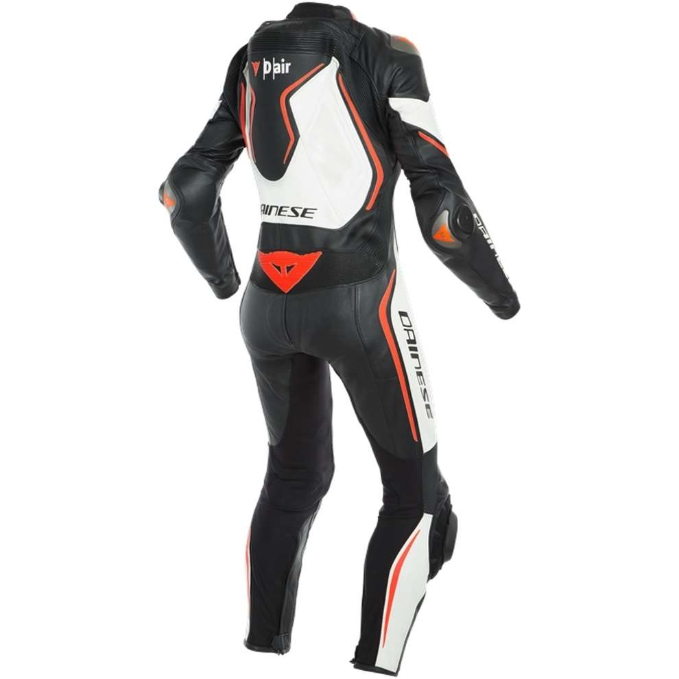 Misano 2 D-Air Lady leather suit perforated black white red Dainese