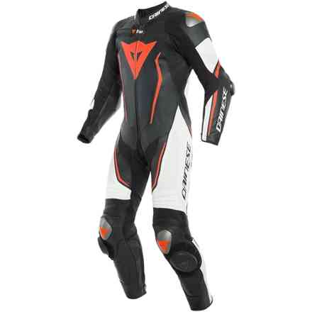 Misano 2 D-Air leather suit perforated black white red Dainese