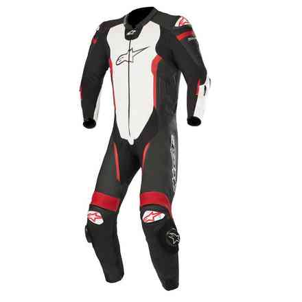 Missile Tech Air Compatible leather suit black white red fluo Alpinestars