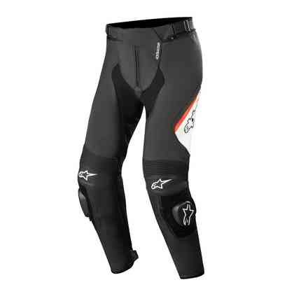 Missile V2 leather pants black white red fluo Alpinestars