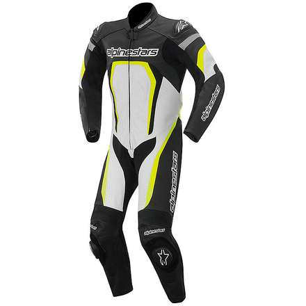 Motegi 2015 Suit black white yellow fluo Alpinestars