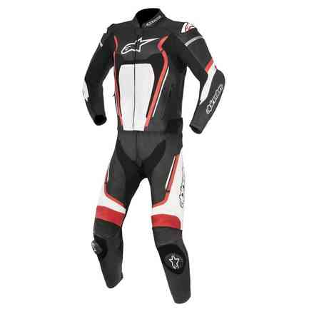 Motegi V2 2pc Leather Suit Black Red White Alpinestars