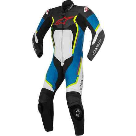 Motegi V2 professional Suit black white blue yellow Alpinestars