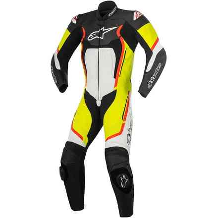 Motegi V2 professional Suit black white red yellow fluo Alpinestars