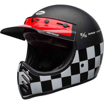 Moto-3 Fasthouse Checkers Helmet Bell