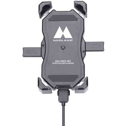 Motorcycle holder with wireless charger From Moto mh pro wc Midland