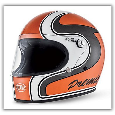 Motorradhelme Trophy M Orange  Premier