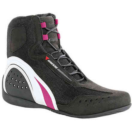 Motorshoe Air Lady Jb black white fuchsia Shoes Dainese