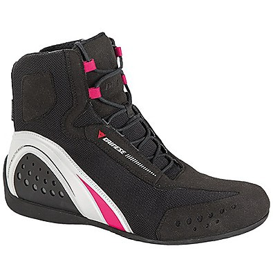 Motorshoe D-wp JB Lady  Shoes Black-White-Pink Dainese