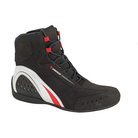 Motorshoe D-wp  Lady  Shoes Black-White-Red Dainese