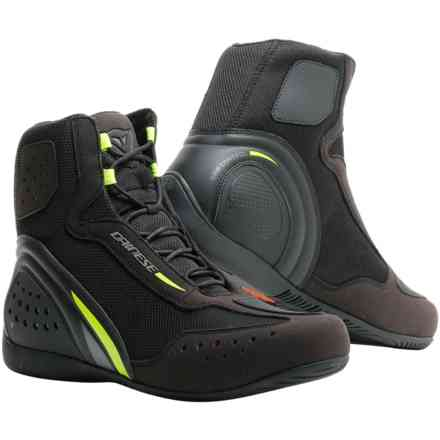 Motorshoe D1 D-wp shoes black yellow fluo anthracyte Dainese