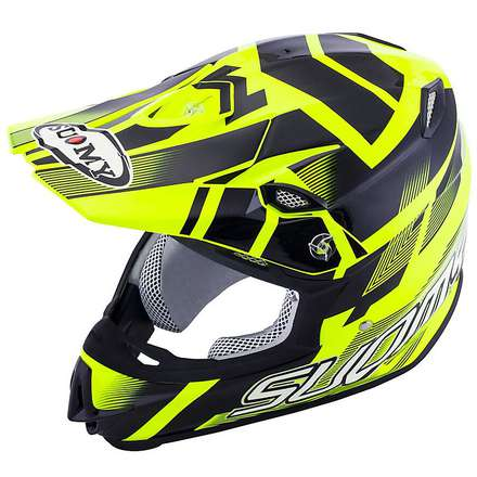 Mr Jump Special yellow fluo-black Helmet Suomy