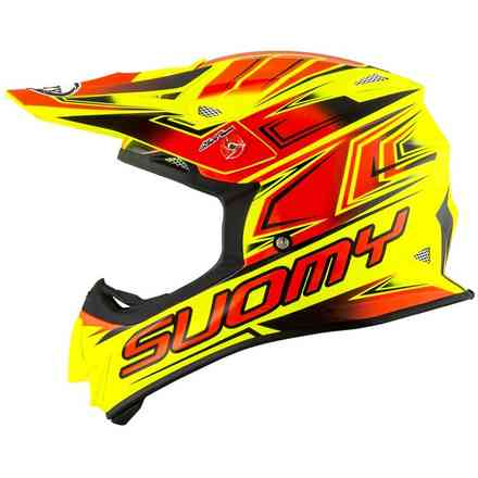 Mr Jump Start Helm Fluo Gelb / Rot Suomy