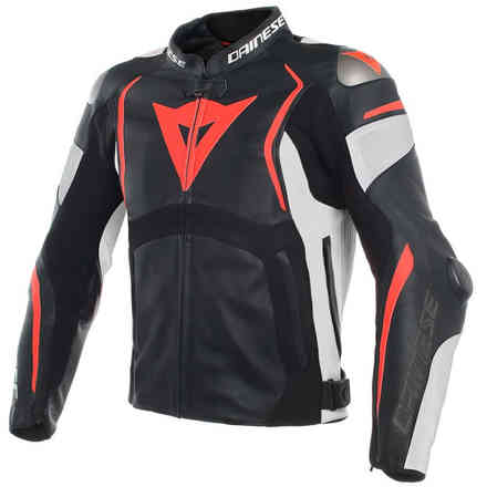 Mugello Perforated jacket black white red fluo Dainese