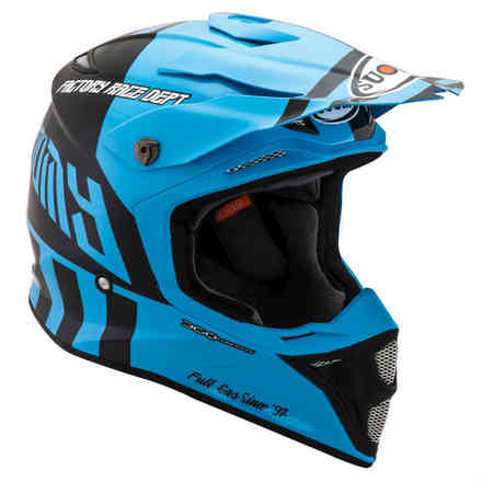 Mx Speed ​​Full Gas Cyan Blauer Helm Suomy